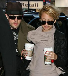 Joel Madden and Nicole Richie Coffee